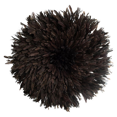 "32"" Juju Feather Hat, Black"