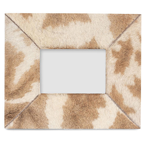 5x7 Giraffe Hide Frame, Brown/Natural