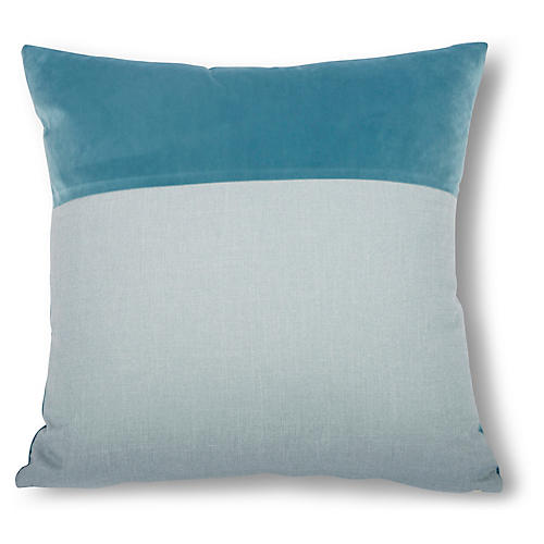 Diplos 22x22 Pillow, Sky Blue/Cyan