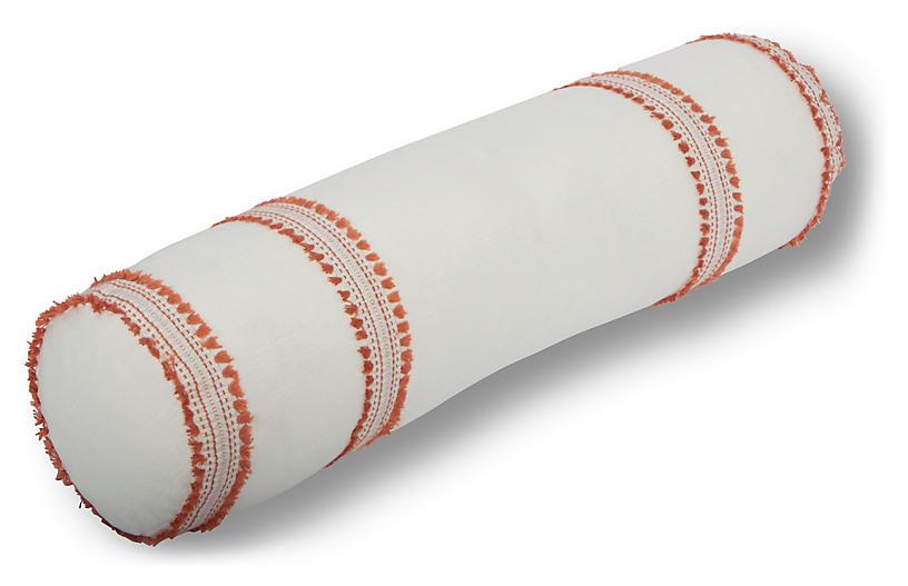 Odell 7x28 Bolster Pillow, Orange
