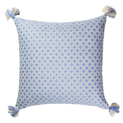 Comalapa 18x18 Pillow, Baby Blue