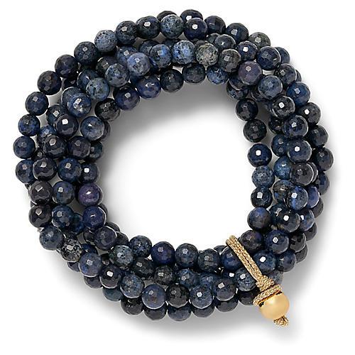 14-Kt Amazonite Stretch Bracelet, Dark Blue