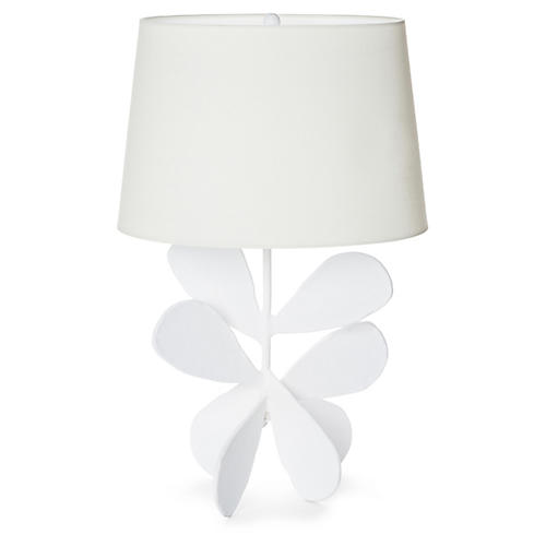 Jane Petal Table Lamp, Plaster White