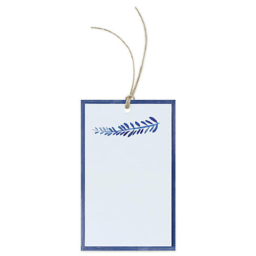S/12 Blue Sprig Gift Tags