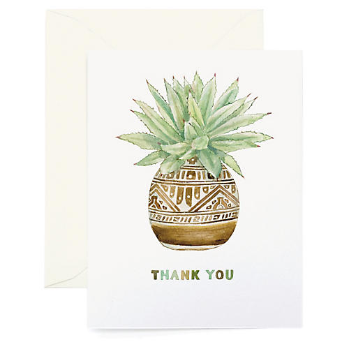 S/8 Thank You Planter Greeting Cards