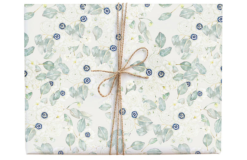 S/3 Calm Anemone Gift Wrap