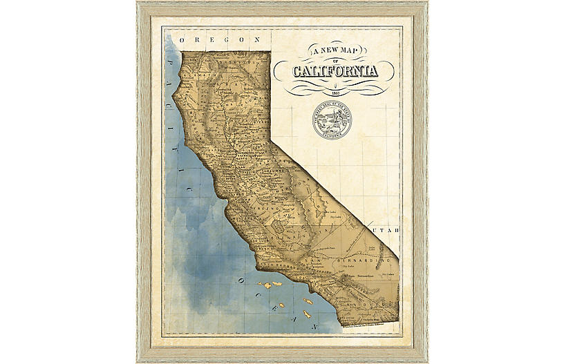 19th-Century Map of California