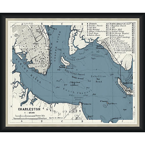 1909 Map of Charleston , Black
