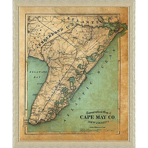 1875 Map of Cape May County, NJ , White