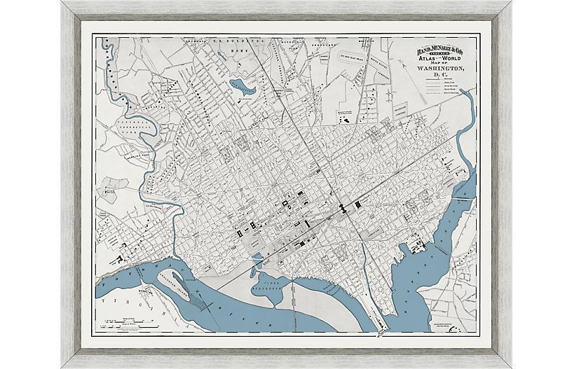 1893 Map of Washington, DC