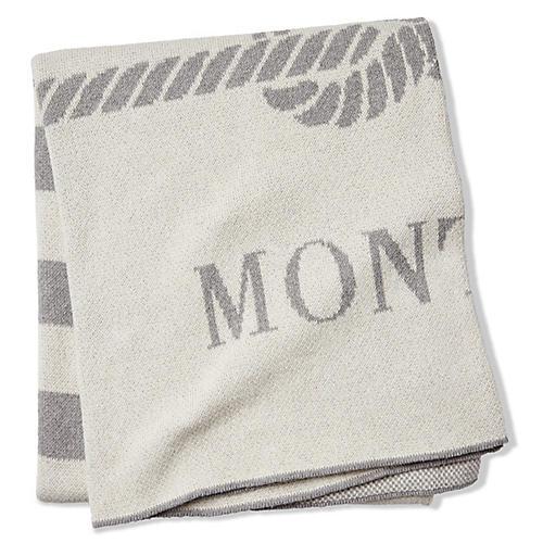 Montauk Throw, Ivory/Light Gray