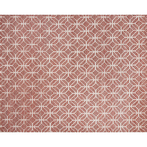 Janina Hand-Knotted Rug, Berry