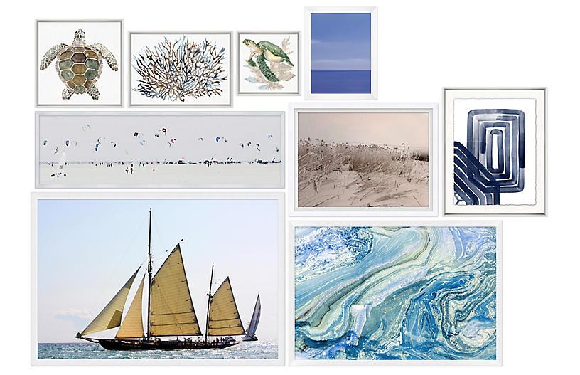 9-Pc Coastal Gallery Wall