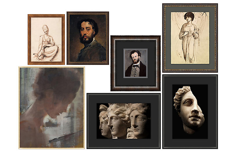 7-Pc Portraits Gallery Wall