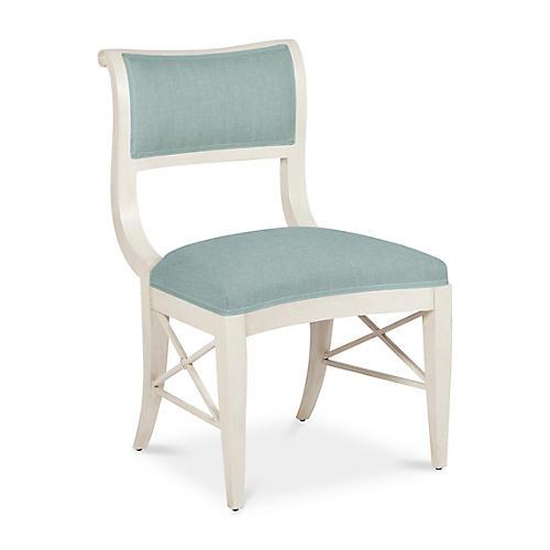 Ava Chair, Blue Linen