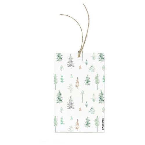 S/12 Peaceful Forest Gift Tags