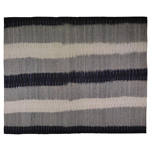 "10'x12'4"" Kholm Handwoven Rug, Black/Smoke"