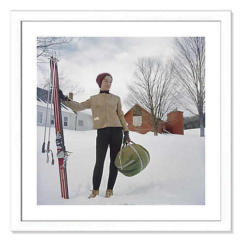 Slim Aarons, Skiing in Stowe
