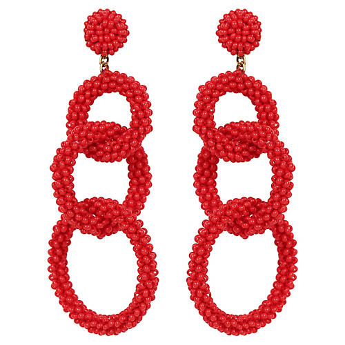 Deepa By Deepa Gurnani Ember Earrings, Red
