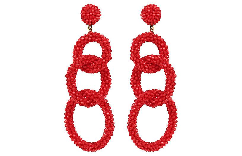 Deepa By Deepa Gurnani Ember Earrings, Red