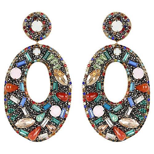 Lainey Earrings, Black/Multi
