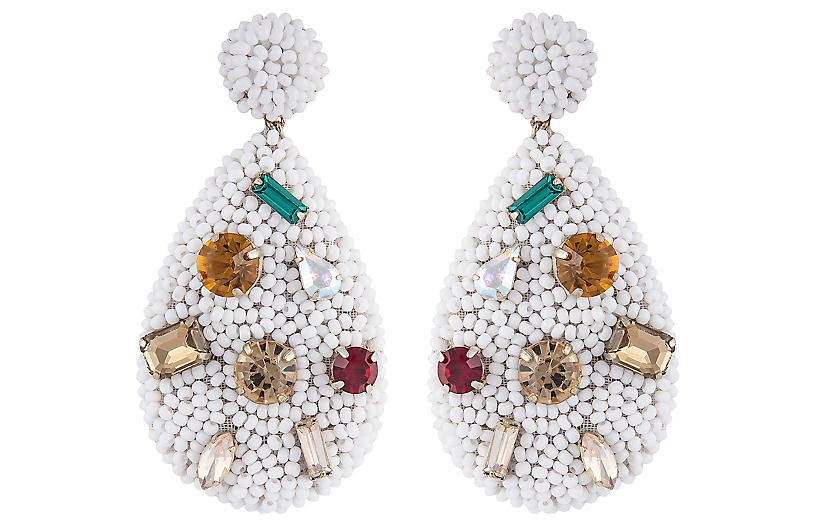 Deepa by Deepa Gurnani Tia Earrings, White