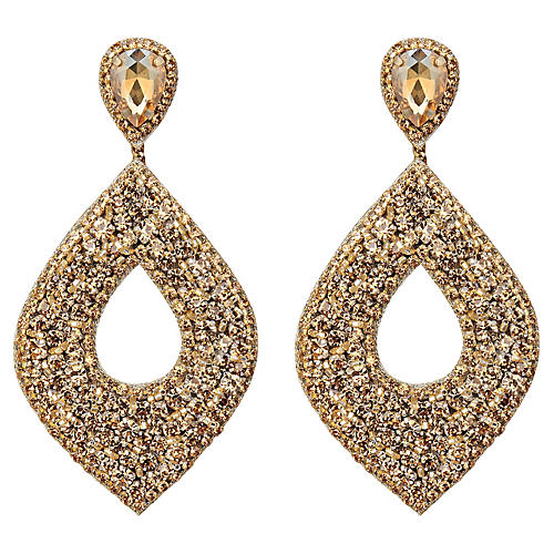 Deepa by Deepa Gurnani Cedani Earrings, Gold