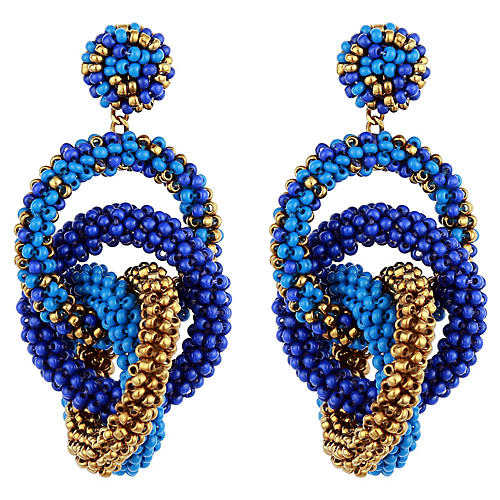 Deepa by Deepa Gurnani Carolyn Earrings, Blue