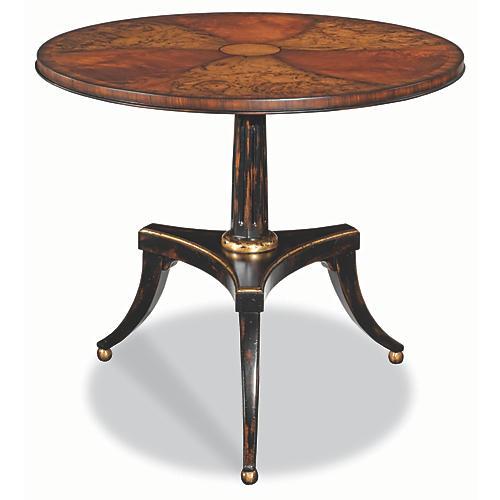 Isere Side Table, Mahogany