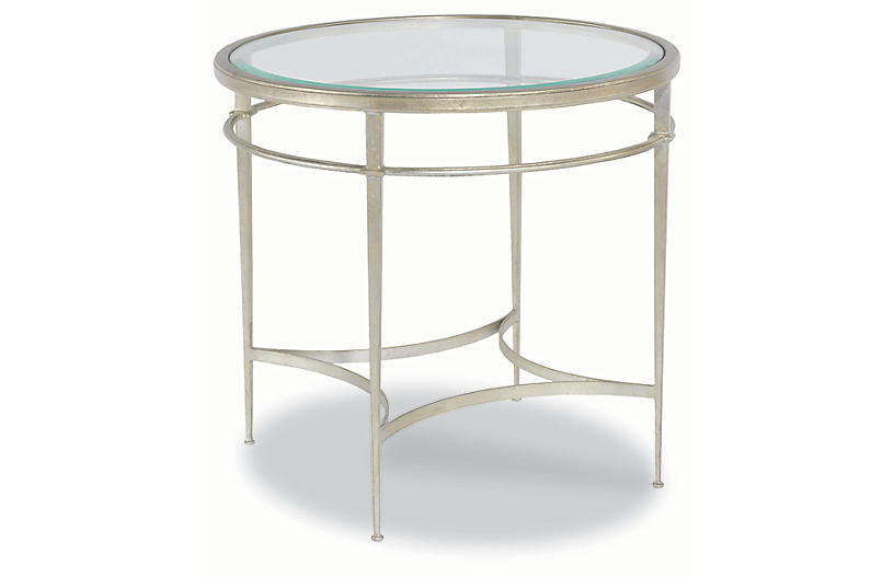 Forbach Side Table Silver Leaf
