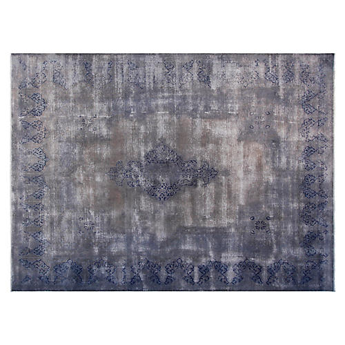 "9'6""x12'6"" Joseph Hand-Knotted Rug, Gray"