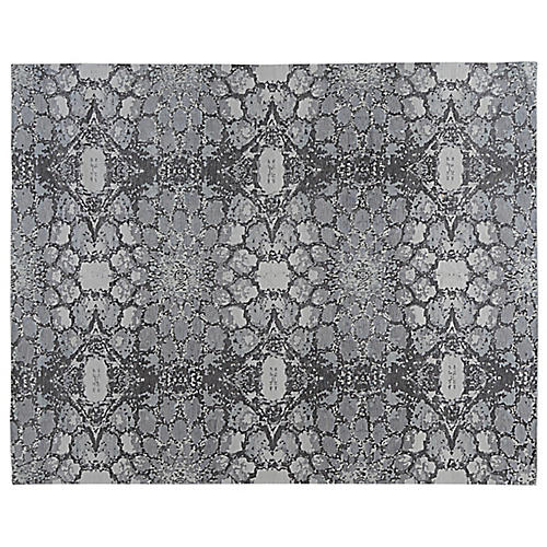 Maurice Hand-Knotted Rug, Gray/Black