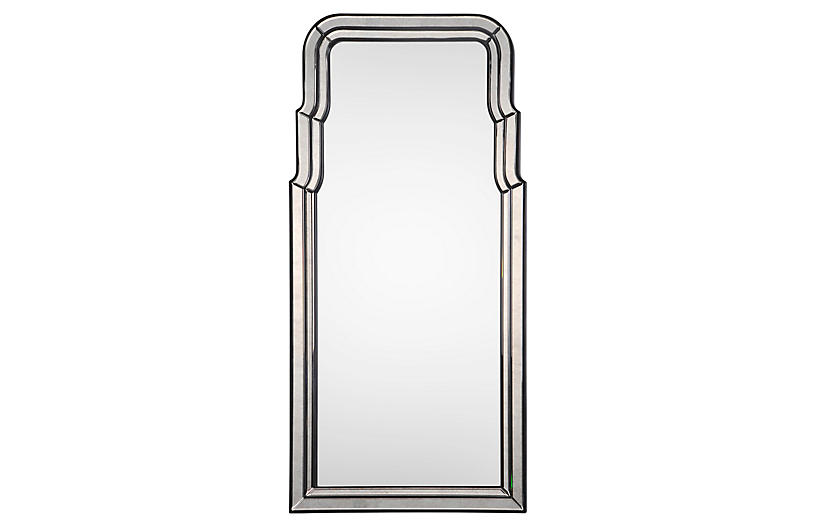 Venezia Oversize Wall Mirror, Antiqued Ebony
