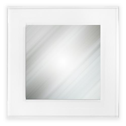 Billie Square Wall Mirror, Clear