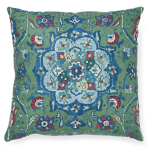 Jahanara 20x20 Pillow, Jade Linen