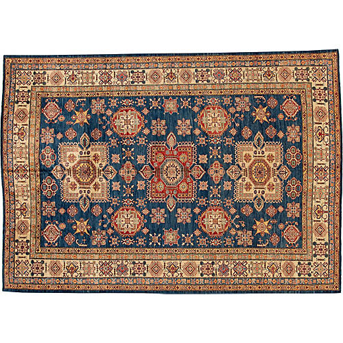 "8'10""x12'5"" Anbu Hand-Knotted Rug, Navy"