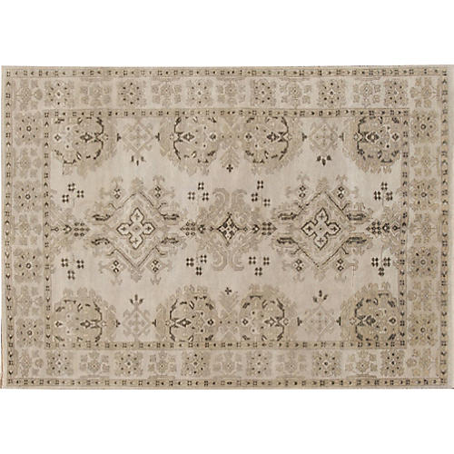 "5'1""x8'2"" Kam Hand-Knotted Rug, Beige"