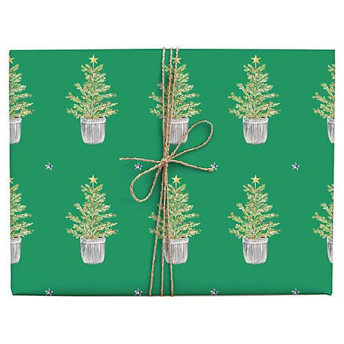 S/3 Christmas Tree Gift Wrap Set
