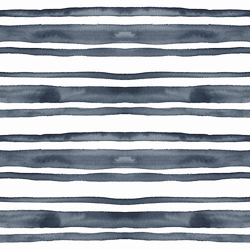 Horizontal Stripe Wallpaper, Hunter