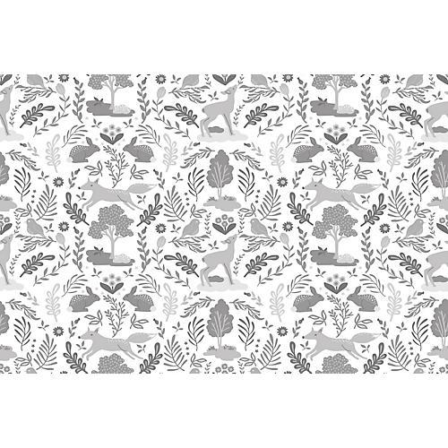 Woodland Wallpaper, Gray