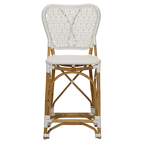 Clemente Counter Stool, White