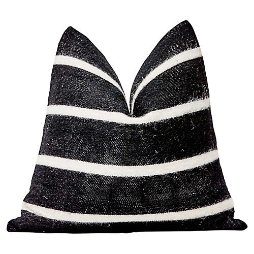 Laney 24x24 Pillow, Black/White