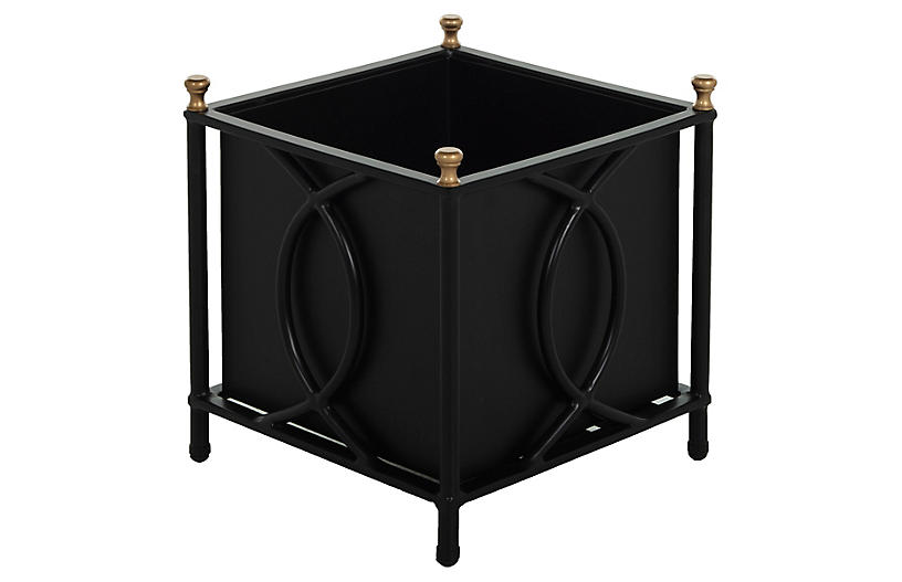 Frances Large Planter, Black