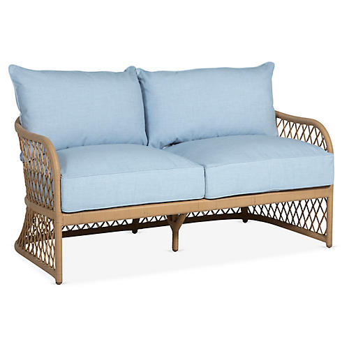 Carmel Loveseat, Chambray