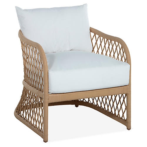 Carmel Lounge Chair, White