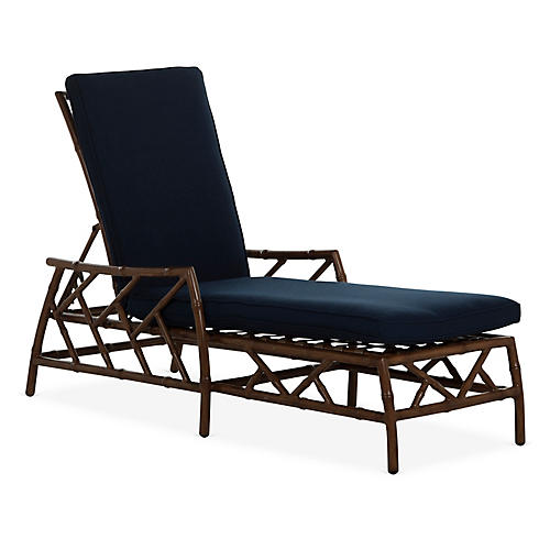 Kit Chaise, Sandalwood/Navy
