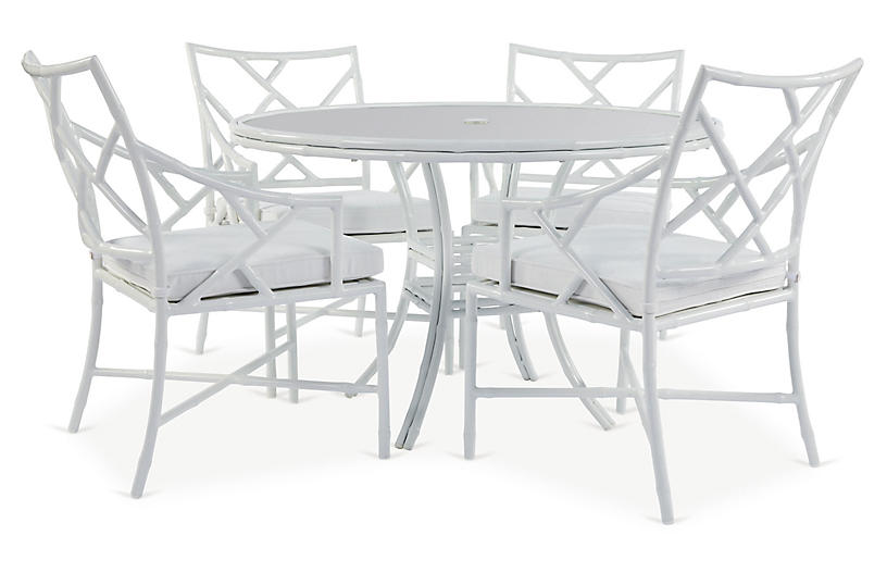 Kit 5-Pc Dining Set, White