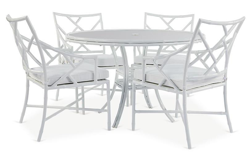Kit 5-Pc Dining Set, White