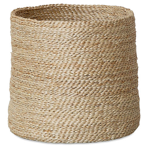 Jute Round Basket, Natural