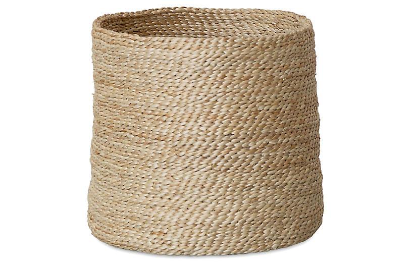 Jute Round Basket, Natural